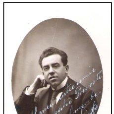 Postales: 1917.-AUTOGRAFO EN CATALAN DEL ACTOR LUIS MIR, SOBRE SU FOTO EN FORMATO TARJETA POSTAL BUSQUETS. Lote 30243644