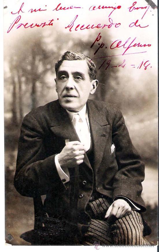 1918.-AUTOGRAFO DEL ACTOR CATALAN PEPE ALFONSO, SOBRE SU FOTO EN FORMATO DE TARJETA POSTAL (Postales - Postales Temáticas - Galantes y Mujeres)