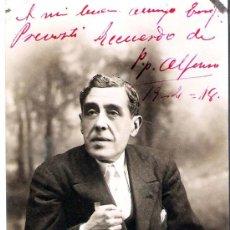 Postales: 1918.-AUTOGRAFO DEL ACTOR CATALAN PEPE ALFONSO, SOBRE SU FOTO EN FORMATO DE TARJETA POSTAL. Lote 30243716