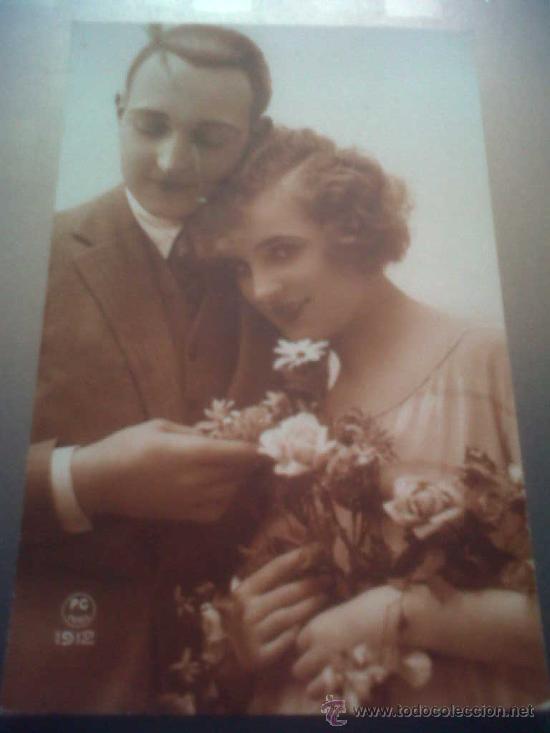 ANTIGUA POSTAL ROMANTICA ESCRITA CIEZA MURCIA 1927 (Postales - Postales Temáticas - Galantes y Mujeres)