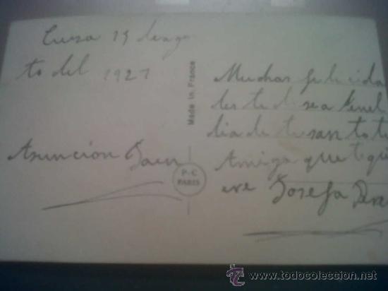 Postales: ANTIGUA POSTAL ROMANTICA ESCRITA CIEZA MURCIA 1927 - Foto 2 - 30260089