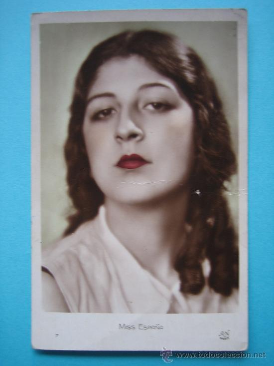 ELENA PLA (VALENCIA) MISS ESPAÑA DE 1930 EN TARJETA POSTAL ESCRITA Y FECHADA EL 24 DE MAYO DE 1930 (Postales - Postales Temáticas - Galantes y Mujeres)