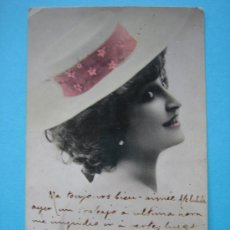 Postales: MERVILLE EN TARJETA POSTAL ANTIGUA CIRCULADA Y FECHADA EN 1903. Lote 30565726