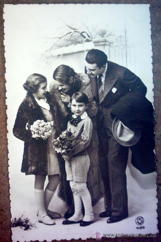 POSTAL FRANCESA, PAREJA CON NIÑOS (Postales - Postales Temáticas - Galantes y Mujeres)