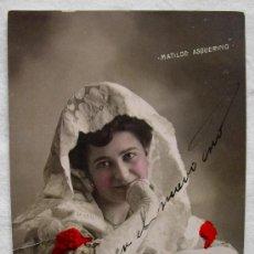 (TGM-4) POSTAL COLOREADA, MATILDE ASQUERINO, CIRCA 1907