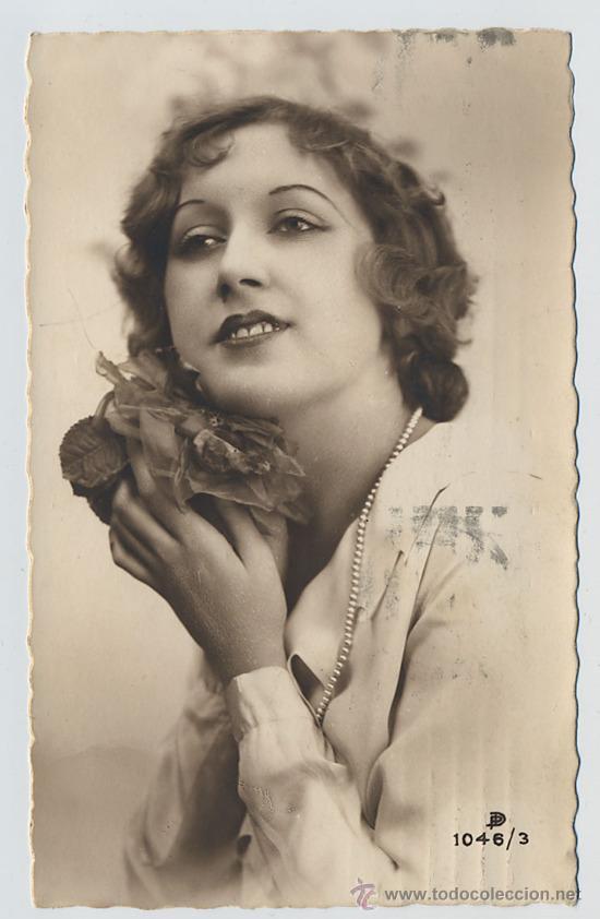 Postal Retrato De Mujer Años 30 Kaufen Alte Galante Postkarten