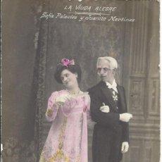 Postales: PS3076 POSTAL FOTOGRÁFICA DE SOFÍA PALACIOS Y JUANITO MARTÍNEZ EN 'LA VIUDA ALEGRE'. 1906. Lote 31600484