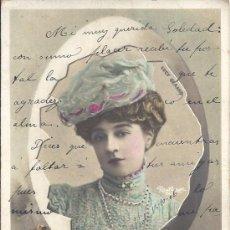 Postales: PS3078 POSTAL FOTOGRÁFICA DE LA ACTRIZ LUCY GERARD. CIRCULADA EN 1906. Lote 31600507