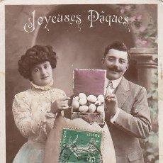 Postales: FELICES PASCUAS, POSTAL CIRCULADA EN 1919. Lote 31910769