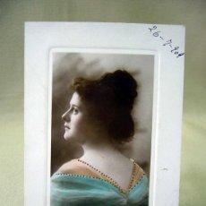 Postales: TARJETA POSTAL, FOTO POSTAL, MUJER, COLOREADA, 1909. Lote 31956520