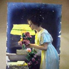 Postales: TARJETA POSTAL, FOTO POSTAL, MUJER, COLOREADA, 1913. Lote 31965726