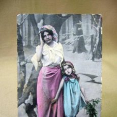 Postales: POSTAL, FOTO POSTAL, 1909, COLOREADA. Lote 32101656