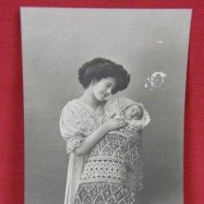 Postales: TARJETA MUJER Y BEBÉ EDITOR PRA 2297/98 ESCRITA 1911. Lote 32114708