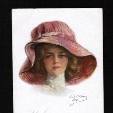 Postales: BONITA POSTAL MUJER CON SOMBRERO - MISS AMERICA - PHILIP BOILEAU, Nº 208. Lote 32141990