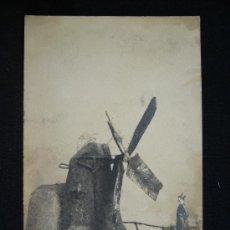 Postales: POSTAL ROMÁNTICA. HOMBRE. PERFUMERIA Y PELUQUERIA TURELL. BARCELONA.. Lote 32619241
