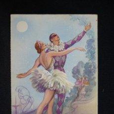 Postales: POSTAL ROMÁNTICA. HOMBRE Y MUJER. DANZA. AÑO 1961.. Lote 32620375