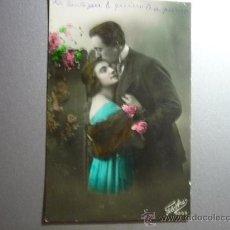 Postales: POSTAL ANTIGUA PAREJA ENAMORADOS - ESCRITA Y FECHADA 1924. Lote 33207024