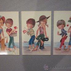 Postales: LOTE 3 POSTALES PAREJAS // ORIGINALES AÑOS 60.. Lote 33423326