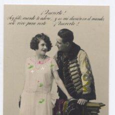Postales: POSTAL ROMANTICA MÁRGARA 691/1 - *MILITAR CORTEJANDO A LA DAMA*. Lote 33960396