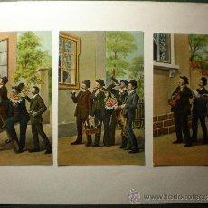Postales: 3 POSTALES TOTALMENTE ORIGINALES DE PRINCIPIOS DE 1900. Lote 34051383