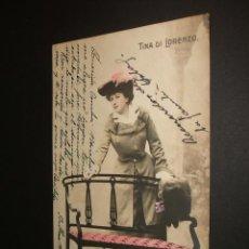 Postales: POSTAL ARTISTA TINA DI LORENZO 1903. Lote 34369032