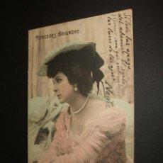 Postales: POSTAL ARTISTA MERCEDES BRIGNONE 1903. Lote 34369044