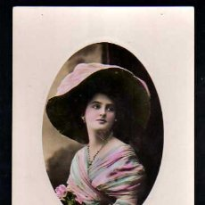 Postales: POSTAL COLOREADA. JOVEN . CIRCULADA 1909.. Lote 34896357