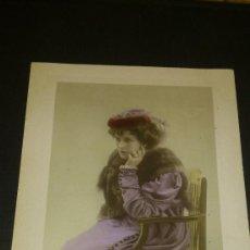Postales: ANTIGUA FOTOGRAFIA TARJETA POSTAL ROMANTICA EVELYN MILLARD PHOTO RITA MARTIN PENARTH. Lote 34971409