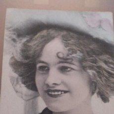 Postales: ANTIGUA POSTAL ROMANTICA ACTRIZ MISS GERTIE MILLAR LONDON COWES 1908. Lote 35010899