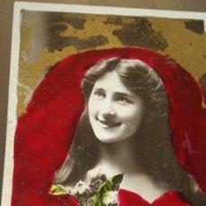 Postales: ANTIGUA POSTAL ROMANTICA ACTRIZ MISS PHYLLIS DARE DAVIDSON BROSS PENARTH 1906. Lote 35010931