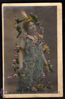 JOVEN. POSTAL FOTOGRÁFICA. CIRCULADA 1906. (Postales - Postales Temáticas - Galantes y Mujeres)