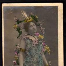 Postales: JOVEN. POSTAL FOTOGRÁFICA. CIRCULADA 1906.. Lote 35716105