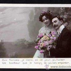 Postales: ROMÁNTICA. COLOREADA. CIRCULADA 1910. Lote 35734964