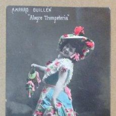 Postales: AMPARO GUILLÉN. ALEGRE TROMPETERIA. CUMPLETISTA. ARTISTA. VIOLA. . Lote 36781628
