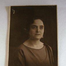 Postales: POSTAL DE SEÑORA, ESCRITA 1924 (DESPERFECTO EN SUPERFICIE). Lote 37836123