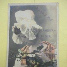 Postales: EDITEURS D ART, PARÍS, POMMES D´API. POSTAL ILUMINADA. LA LAGUNA. TENERIFE 1905. Lote 38351660