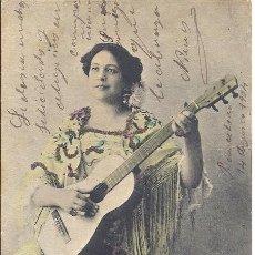 Postales: PS0993 POSTAL DE LA ARTISTA ROSITA FORTUNY. COLOREADA Y CON PURPURINA. CIRCULADA EN 1904. Lote 98513751