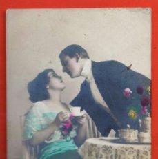 Postales: POSTAL - PAREJA ROMANTICA TOMANDO CAFE - Nº 3660 - ED. PRA - COLOREADA - NUEVA - AÑOS 20 -. Lote 39351171