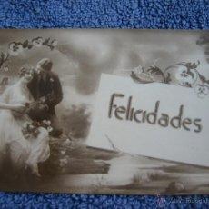 Postales: POSTAL ANTIGUA: MARGARA, 411.- FELICIDADES.- PAREJA POSANDO. Lote 39457103