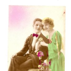 Postales: BONITA POSTAL ANTIGUA, COLOREADA, MANUSCRITA Y SIN CIRCULAR - CARMEN 62 - FECHADA EN CALPE 1924. Lote 39690762