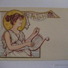 Postales: POSTAL MODERNISTA ATENAS. Lote 30166257