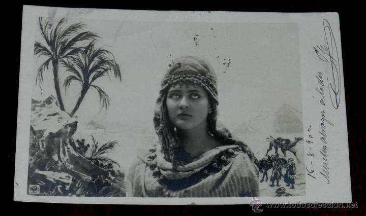 ANTIGUA FOTO POSTAL SURREALISTA DE MUJER, NPG 107/1, MODERNISTA, ART NOUVEAU, CIRCULADA EN 1902, SIN (Postales - Postales Temáticas - Galantes y Mujeres)
