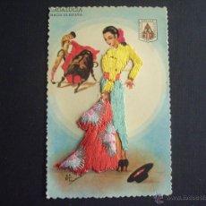 Postales: POSTAL MUJER,TORERA, BORDADA. Lote 41220298