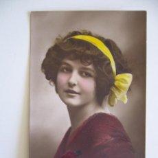 Postales: POSTAL ROMÁNTICA DE MUJER CON DIADEMA. 2391/4. CIRCULADA 1914.. Lote 41336668