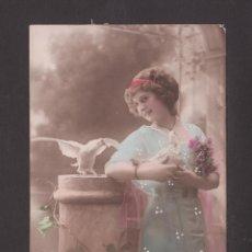 Postales: ANTIGUA POSTAL - 3175 MUJER CON PALOMAS - EDICIÓN ARS - ESCRITA EN 1913. Lote 41749698