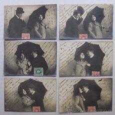 Postales: 6 POSTALES SECUENCIA ROMANTICA - AÑO 1905. Lote 43073455