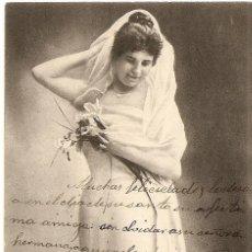 Postales: POSTAL DE MUJER CIRCULADA AÑO 1905. Lote 43155629