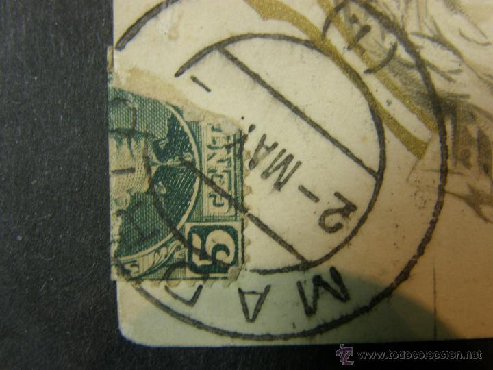 Postales: postal enmarcada circulada 2 mayo 1902 matasellos Gijón coloreada señores chaque rojo y damas - Foto 8 - 43394032