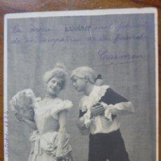 Postales: ANTIGUA POSTAL 1904 NIÑOS NIÑOS GALANTES FELICITACIÓN. Lote 43577316