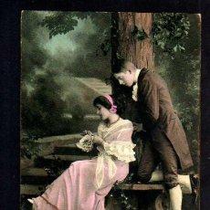 Postales: ANTIGUA POSTAL FOTOGRÁFICA COLOREADA. ROMÁNTICA. CIRCULADA 1914. Lote 43587019